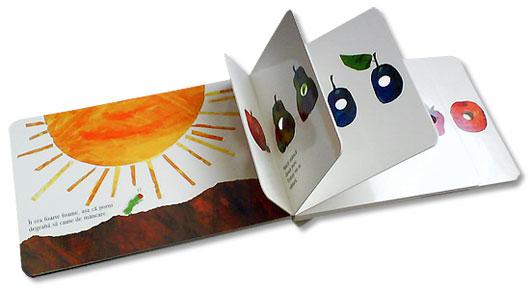 Omida mancacioasa, de Eric Carle - carte cu pagini cartonate si decupate